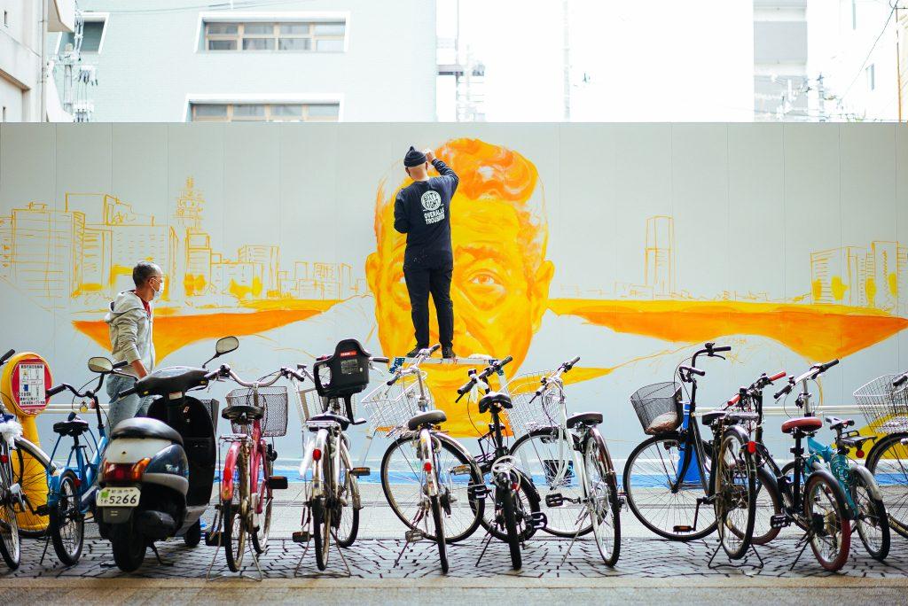 Künstler NOVOL ehrt Duke Ellington mit Mural in Niigata, Japan