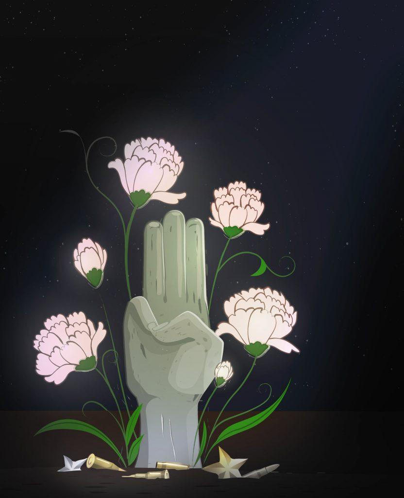 Der Drei-Finger-Gruß ist zum Symbol des Widerstands in Asien geworden