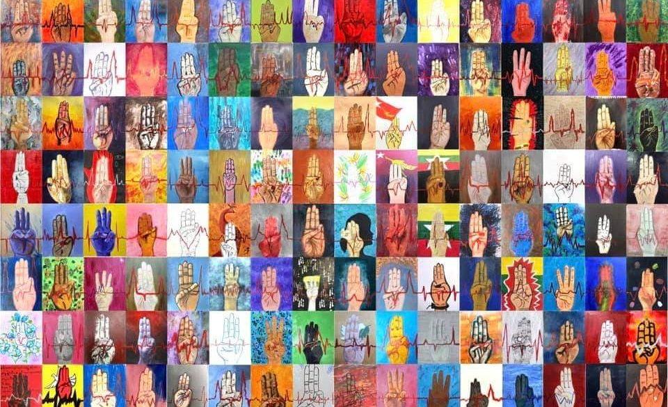 Protest und Kunst gegen den Militärputsch in Myanmar